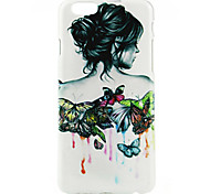 Butterfly Girl Pattern Case for iPhone 6