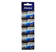 ALKALINE AG2 LR726 396 SR726 196 High Capacity Button  Batteries (10PCS)