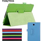 PU-Leder einfarbig Ganzkörper Fällen Fällen mit Ständer auto Schlaf / Wach-up für Samsung Galaxy Tab 9.7 a