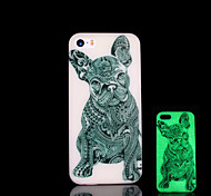 Dog Pattern Glow in the Dark Cover for iPhone 4 / iPhone 4 S Case