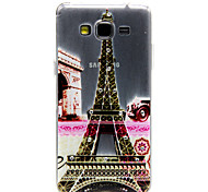 Tower Flowers Pattern TPU Relief Diamond Back Cover Case for Samsung Galaxy Prime G530
