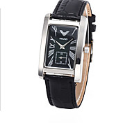 Men's Rectangle Dial Case Leather Watch Brand Fashion Quartz Watch(More Color Available)