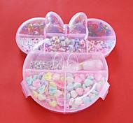 fachion Acrylperlen sortierte Farbe und Form in Kunststoff-Box scherzt Spielzeuggeschenk diy Perlen passen Halskette Armband Schmuck