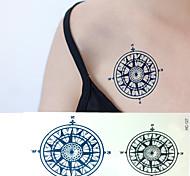 Sailor Compass Tattoo Stickers Temporary Tattoos(1 pc)