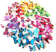 3d моделирование ПВХ красочные наклейки стены бабочки 12pcs / комплект