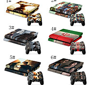 Full Body Decal Skin Sticker for Playstation 4 PS4 Console+ 2 Free Controllers Skins