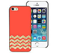 Red and Golden Stripe Aluminum Hard Case for iPhone 5C