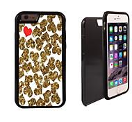 or et rouge conception de coeur 2 en 1 armure hybride complet du corps à double couche choc protecteur mince affaire pour iPhone6