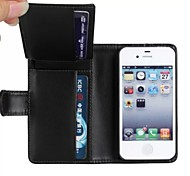 Wallet Style PU Leather Full Body Protection Cover with Stand and Card Slot for iPhone 5/5S