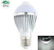 Zweihnder E27 5W 450LM 5500-6000K 12x5730 SMD White Light IR Sensor Bulb Light (new products,AC 85-265V,1Pcs)