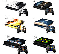 Prints/Designs/Patterns Designer Vinyl Skin for Gaming Console and Free Controller Sticker Decal for PS4