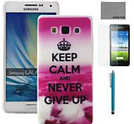 Für Muster Hülle Rückseitenabdeckung Hülle Wort / Satz Hart TPU Samsung A5