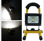 10W 400lm 6500 White Adjustable Flood Light - Black + Yellow (AC110V-220V)