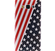 Red Striped Black Star Pattern TPU Soft Cover for Samsung Galaxy A5