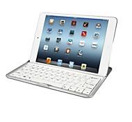 novo caso ultrafina de metal de alumínio teclado sem fio bluetooth ficar tampa doca para Apple iPad mini-teclado caso