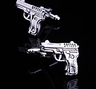 Toonykelly® Fashion Silver Plated Gun Cufflink Button(1 Pair)