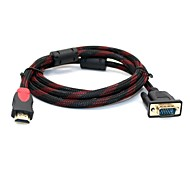 1.5M HDMI V1.4 to VGA Cable Male to Male Video AV Adapter Cable for HDTV PC Laptop
