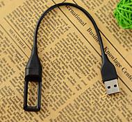 draagbare USB-oplaadkabel voor Fitbit flex draadloze polsbandje armband - zwart (22,2cm)
