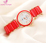 Popular Brand Roman Number Rose Gold Ceramic Women Dress Watches Fashion Casual Quartz Watch Ladies Wristwatch Cool Watches Unique Watches