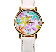 Colour Flower Women Wristwatch(White)(1Pcs)
