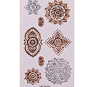 Fashion Big Size Temporary Tattoos Set Women Tattoo Set Gold Metallic Temporary Tattoos Body Art