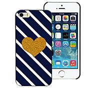 goldenes Herz Design Aluminium-Hülle für das iPhone 4 / 4s