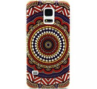 Relief Painting Totem Murals Pattern 0.2 Slim TPU Protective Shell for Samsung Galaxy S5 Mimi