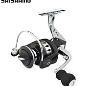 Carrete Spinning / Carrete de la pesca Carretes para pesca spinning 5.5:1 13 Rodamientos de bolas IntercambiablePesca de Mar / Pesca de