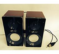Allspark ® mini Hifi Multimedia-Lautsprechersystem holzigen Subwoofer