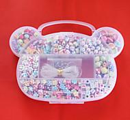 beadia Acryl diy Perlen sortierte Farbe und Form in Kunststoff-Box scherzt Spielzeuggeschenk fit Halskette Armband Schmuck