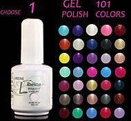 LIBEINE UV Color Gel Nail Polish No.001-012 (15 ml,Assorted Colors)