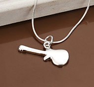 Charming Silver Guitar  Shape Women's Pendents