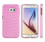 Woven Pattern Plastic Protective Case for Samsung Galaxy S6