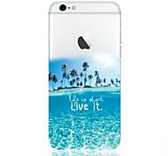 iphone 7 mais padrão de água do mar escudo do telefone material de TPU fino para iphone 6s 6 mais