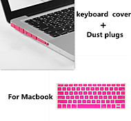 Top Selling TPU Keyboard Film and Dust plugs for Macbook Air 11.6 inch (Assorted Colors)