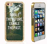 el brillo brillo híbrido de lujo bling del diseño del árbol con la caja de diamantes de imitación de cristal para el iphone 5 / 5s