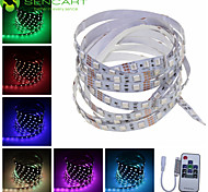 SENCART 1 M 60 5050 SMD RGB Cortable/Control Remoto/Regulable/Conectable/Adecuadas para Vehículos/Auto-Adhesivas 15 W Tiras LED Flexibles