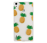 Pineapple Pattern TPU Soft Case for Huawei Ascend P7