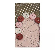 Diamond Button Patterns Wallet Card General PU Leather Full Body Case for Gionee Elife E6