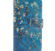 qualità coco alto design di moda fun® blu albero modello della copertura della cassa pu wallet per Nokia Lumia N630