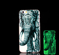 Elephant Pattern Glow in the Dark Cover for iPhone 6 Plus Case
