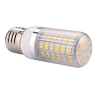 E27  15W 60x5730SMD 1500LM 2800-3200K /6000-6500K Warm White/Cool White Light LED Corn Bulb with Striped Cover (85-265V)