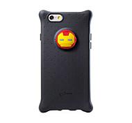 merveille homme de fer silicium retour cas de couverture pour l'iphone 6 (y compris protecteur d'écran)
