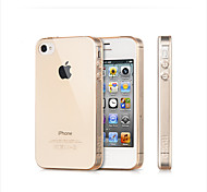 Ultra Thin Transparant Bumper  Silicone Soft Cases  for IPHONE4/4S