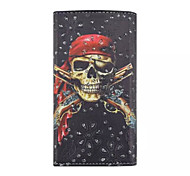 With diamond Skull Pattern PU Wallet Style Card Phone Case for Samsung Galaxy Ace 4 G357FZ G313H S2 I9100 S4Mini