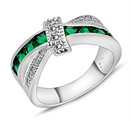 Size 6/7/8/9/10 High Quality Women Emerald Sapphire Rings 10KT Gold Filled Ring