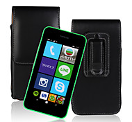 Europe and the United States fei PU Open Waist Hanged Mobile phone Set up and Down for Nokia Lumia 530