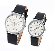 Couple's Round Dial Case Leather Watch Brand Fashion Quartz Watch(More Color Available)