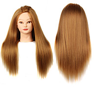 YAKI Synthetic Hair Salon Female Mannequin Head with Make-up