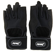 Y22202 Fashion Durable Microfiber Extended Wristbands Half-finger Gloves - Black + Gray (Size M L XL)